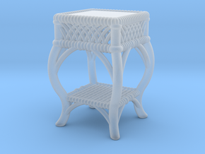 1:48 Nob Hill Wicker Side Table in Smoothest Fine Detail Plastic