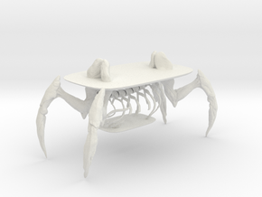 Human crab table in White Natural Versatile Plastic: 1:10