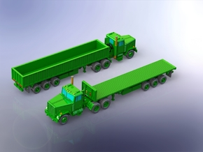 M915 Tractor w. M872 Semitrailers 1/200 in Smooth Fine Detail Plastic