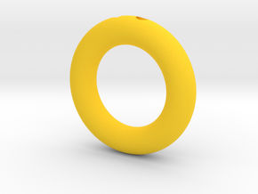 Sonic Gold Ring Keychain/Pendant Charm in Yellow Processed Versatile Plastic