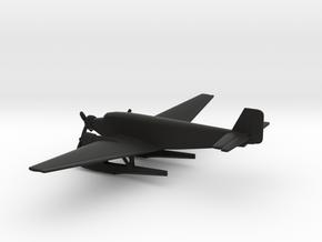 Junkers Ju 52 Seaplane in Black Natural Versatile Plastic: 6mm