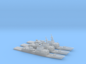 1/3000 General Dynamics FFG(X) Proposal Set of 3 in Smooth Fine Detail Plastic