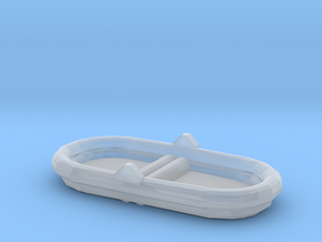 1/128 Scale 7 Person Inflatable Raft Mk 2 USN in Smooth Fine Detail Plastic