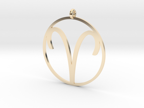Zodiac pendant Aries ​​21 Mar - 19 Apr in 14k Gold Plated Brass