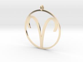 Zodiac pendant Aries 21 Mar - 19 Apr in 14k Gold Plated Brass