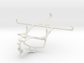 Controller mount for PS4 & Realme XT - Front in White Natural Versatile Plastic