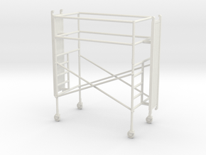 1/64th Scaffold single stage in White Natural Versatile Plastic
