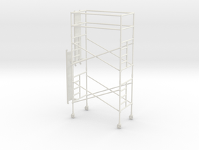1/64th Scaffold Two Stage in White Natural Versatile Plastic