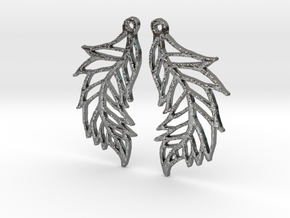 :Featherflight: Earrings in Polished Silver