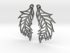 :Featherflight: Earrings in Polished Silver