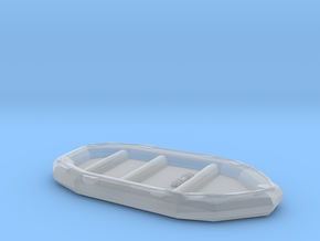 1/87 Scale 10 Person Inflatable Landing Boat in Smooth Fine Detail Plastic