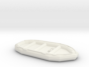 1/72 Scale 10 Person Inflatable Landing Boat in White Natural Versatile Plastic