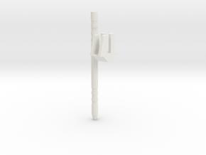 Plasma Hammer pole in White Natural Versatile Plastic