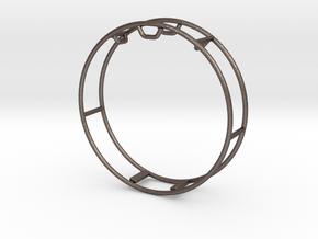 Gym_Wheel_Miniature in Polished Bronzed-Silver Steel: Medium
