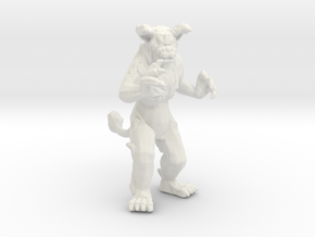 King Caesar kaiju monster miniature for games rpg in White Natural Versatile Plastic