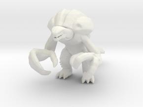 Orga kaiju monster miniature for games and rpg in White Natural Versatile Plastic
