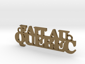Fait au QUEBEC Pendant in Polished Bronze