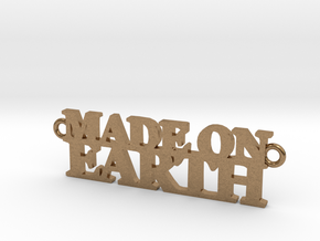 Made on EARTH Pendant in Natural Brass