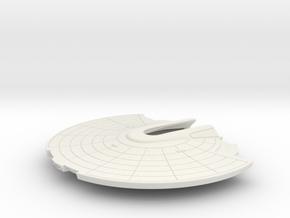 1/1000 USS Ranger Saucer Ver.2 in White Natural Versatile Plastic