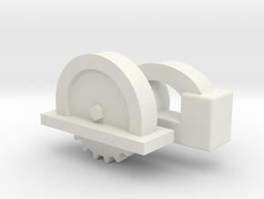 1:10th Scale Circular Saw in White Natural Versatile Plastic: 1:10