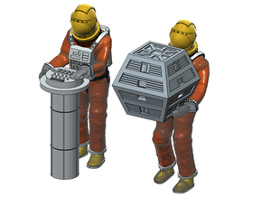 SPACE 1999 1/48 ASTRONAUT WORKING B SET in Smooth Fine Detail Plastic
