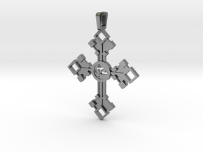Cross  in Polished Silver