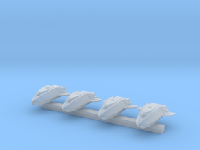 1:350 Scale NX Shuttlepods (4x) in Smooth Fine Detail Plastic