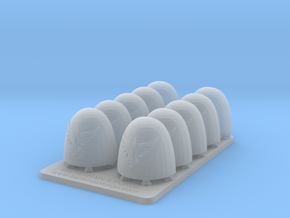 Bran Del Sangre V6 Smooth Shoulder Pads in Smooth Fine Detail Plastic