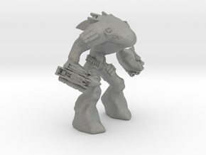 Mecha Shark Jaeger Mech Miniature games rpg in Gray PA12