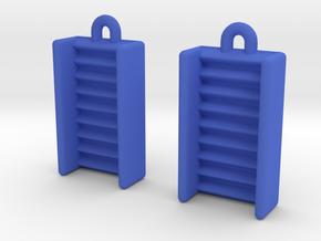 DRAW earrings - EDI potential wells in Blue Processed Versatile Plastic
