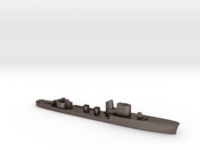 Italian Climene torpedo boat 1:3000 WW2 in Polished Bronzed-Silver Steel