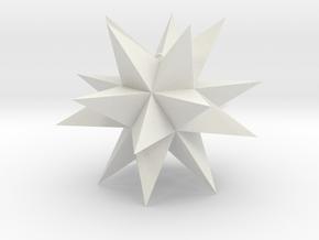 Spikey Stellation 3.2 in White Natural Versatile Plastic