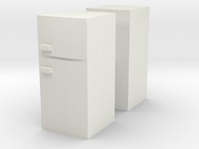 Fridge (x2) 1/72 in White Natural Versatile Plastic
