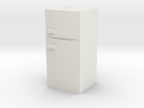 Fridge 1/43 in White Natural Versatile Plastic