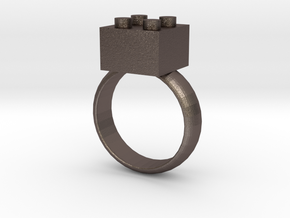 Building Blocks Ring in Stainless Steel
