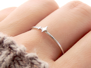 Twin Sparkle Ring (Multiple Sizes) in Polished Silver: 6 / 51.5