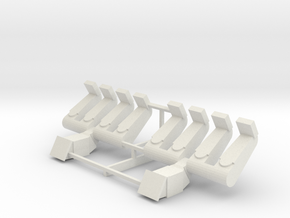 SPIN OUT - Seats (x2) in White Natural Versatile Plastic