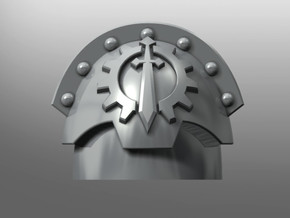 Honoris pattern shoulder pads: Iron Lions in Smooth Fine Detail Plastic: Small