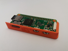 RasPi Zero Minimal Case in Orange Processed Versatile Plastic
