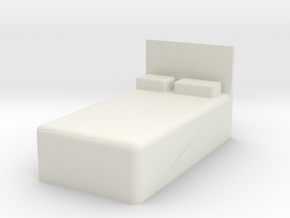 Twin Bed 1/48 in White Natural Versatile Plastic