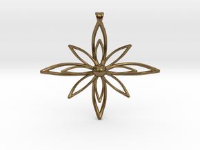 PETALIS Flower Petals design pendant in Natural Bronze
