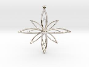 PETALIS Flower Petals design pendant in Platinum