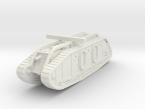 Mark IX Tank 1/87 in White Natural Versatile Plastic