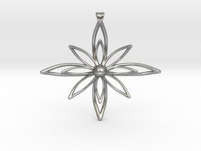 PETALIS Flower Petals design pendant in Natural Silver