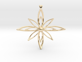 PETALIS Flower Petals design pendant in 14K Yellow Gold