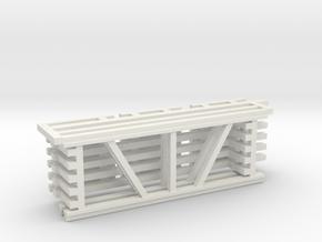 36X96 & 108 Beam Kit 1-87 HO Scale in White Natural Versatile Plastic