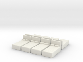 Twin Bed (x8) 1/200 in White Natural Versatile Plastic