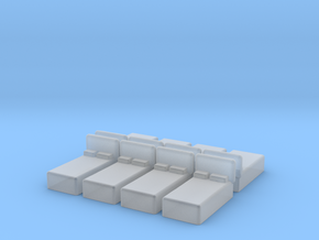 Twin Bed (x8) 1/285 in Smooth Fine Detail Plastic