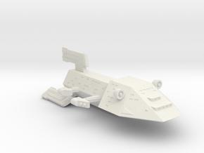 3788 Scale Kzinti Command Cruiser (CC) SRZ in White Natural Versatile Plastic