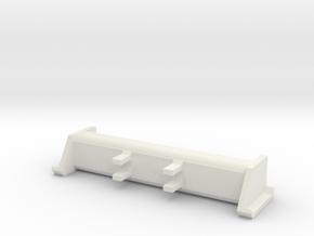 1/64 snow pusher for skidloaders in White Natural Versatile Plastic
